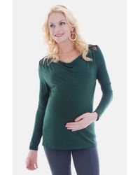Everly Grey | Green 'hania' Maternity Top | Lyst