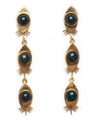Lizzie Fortunato | Black Red Eye Bloodstone Earrings | Lyst
