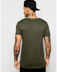 ASOS - T-shirt With Square Neck In Green for Men - Lyst