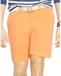 Polo Ralph Lauren - Orange Classic-Fit Flat-Front Chino Shorts for Men - Lyst