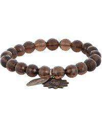 Miracle Icons - Brown Smoky Topaz Charm Bracelet for Men - Lyst