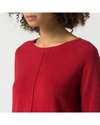 Tommy Hilfiger | Red Cotton Blend Sweater | Lyst