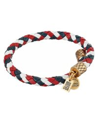 ALEX AND ANI | Blue Team Usa Braided Leather Wrap Bangle | Lyst