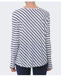 Rag & Bone - Blue Ash Striped Long Sleeved Top - Lyst