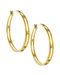 Vince Camuto - Metallic Gold Tone Open Hoop Earrings - Lyst