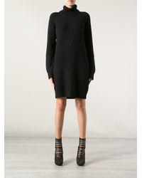 MICHAEL Michael Kors - Black Sweater Dress - Lyst