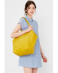 BDG - Yellow Seams Leather Tote Bag - Lyst