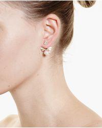 Yvonne Léon | Metallic 18K Gold And Diamond Bee Stud Earring | Lyst