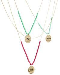 ASOS - Metallic Multirow Choker Lariat Necklace - Lyst