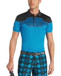 "BOSS Green | Blue ""modern Fit, Golf Polo 'paddy Pro 3' With Moisture Manager And Uv Protection\"" for Men 