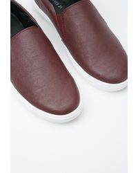 Forever 21 - Purple Faux Leather Slip-ons for Men - Lyst