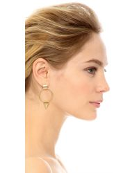 Elizabeth Cole - Metallic Open Circle Earrings - Lyst