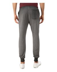 Converse - Gray Black Wash French Terry Pants for Men - Lyst