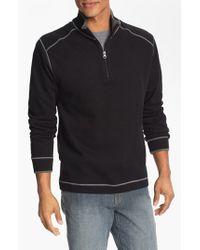 Cutter & Buck - Black Regular Fit Quarter Zip Sweater for Men - Lyst