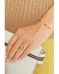 Arme De L'Amour | Metallic Gold-plated Finger Bracelet | Lyst