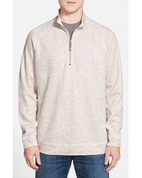 Tommy Bahama | Natural 'slubtropics' Reversible Quarter Zip Pullover for Men | Lyst