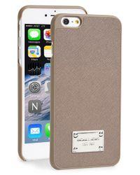 MICHAEL Michael Kors - Brown Saffiano Leather Iphone 6 Plus & 6s Plus Case - Lyst