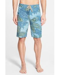 Patagonia - Blue 'wavefarer' Print Board Shorts for Men - Lyst