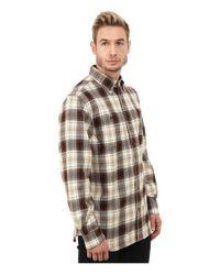 Carhartt | Brown Trumbull Plaid Long Sleeve Shirt for Men | Lyst