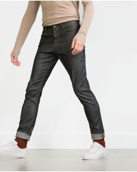 Zara | Gray Structured Jeans for Men | Lyst
