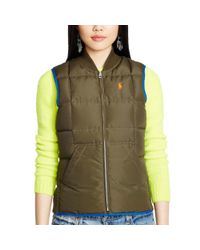 Polo Ralph Lauren | Blue Reversible Full-zip Down Vest | Lyst