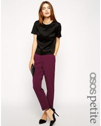 ASOS | Green Trousers In Slim Leg With Turnup | Lyst