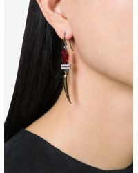Iosselliani | Red 'geometric Floral' Earrings | Lyst