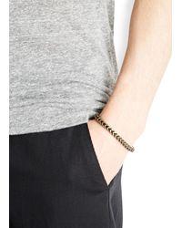 Vitaly | Metallic Kusari Bronze Tone Bracelet for Men | Lyst