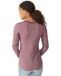 Alternative Apparel - Purple Cozy Thermal Top - Lyst