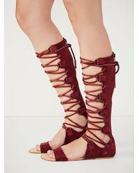 Free People - Red Decibel Gladiator Sandals - Lyst