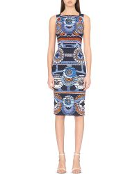 Peter Pilotto | Blue Kia Abstract-print Crepe Dress | Lyst