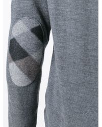 Burberry Brit - Gray V-neck Sweater for Men - Lyst