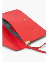 Mango | Red Lapel Envelope | Lyst
