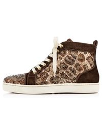 Christian Louboutin - Multicolor Louis Woman Strass Leopard - Lyst