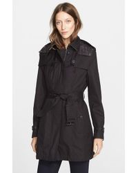 Burberry Brit | Black 'Fenstone' Single Breasted Trench Coat With Detachable Hood & Liner | Lyst