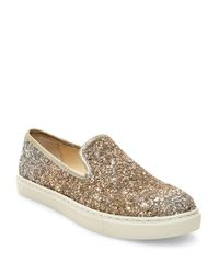 Betsey Johnson | Metallic Eve Glitter Slip-on Sneakers | Lyst