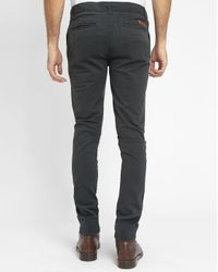 Knowledge Cotton Apparel | Gray Grey Stretch Chinos for Men | Lyst