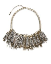 Saks Fifth Avenue | Metallic Mixed-metal Fringe Sparkle Statement Necklace | Lyst