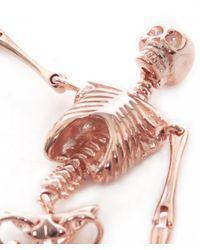 Vivienne Westwood - Skeleton Earrings Pink Gold - Lyst