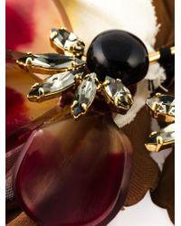 Marni | Brown Floral Brooch | Lyst