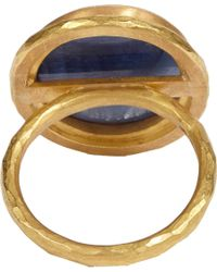 Malcolm Betts | Blue Diamondframed Sapphire Gold Ring | Lyst