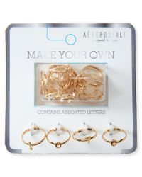 Aéropostale | Metallic Alphabet Rings Set | Lyst
