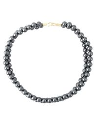 Stella McCartney | Metallic Two Row Pearl Necklace | Lyst