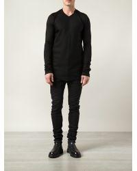 Julius - Black Striped Sweatshirt for Men - Lyst