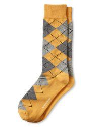 Banana Republic - White Pima Argyle Sock for Men - Lyst