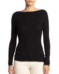 Michael Kors | Black Cashmere Boatneck Sweater | Lyst