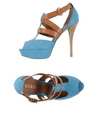 Guess - Blue Sandals - Lyst