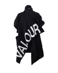 Alexander McQueen | Black Valour Draped Cardigan | Lyst