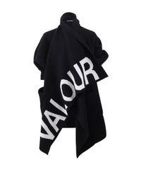 Alexander McQueen - Black Valour Draped Cardigan - Lyst