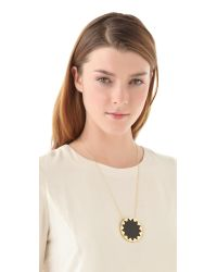 House of Harlow 1960 | Black Sunburst Pendant Necklace | Lyst